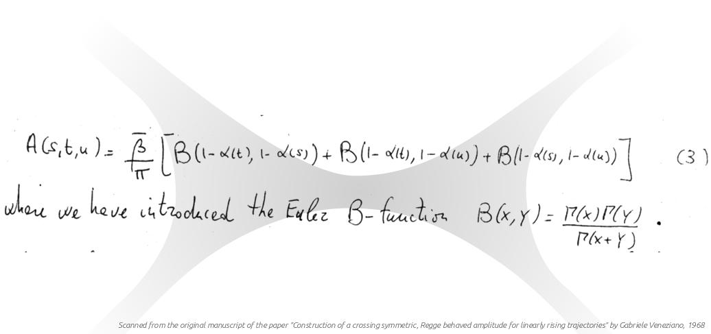 Formula of the Veneziano amplitude