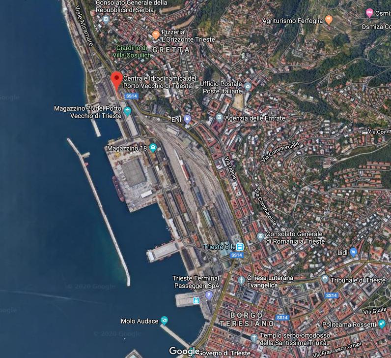 Google static map of Centrale idrodinamica of Trieste