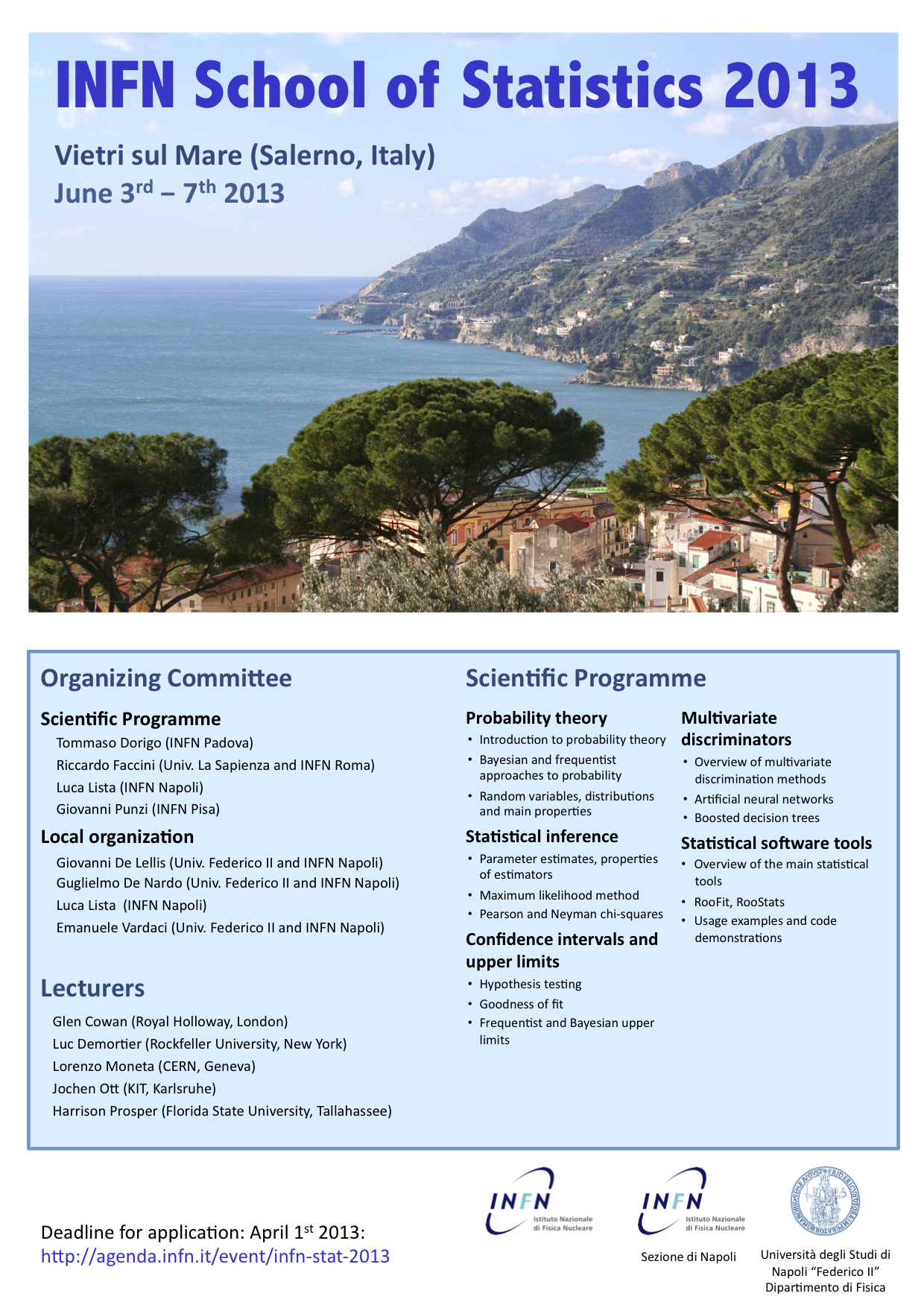 INFN School of Statistics 2013 - Poster