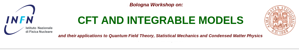 9th Bologna Workshop on CFT and Integrable Models